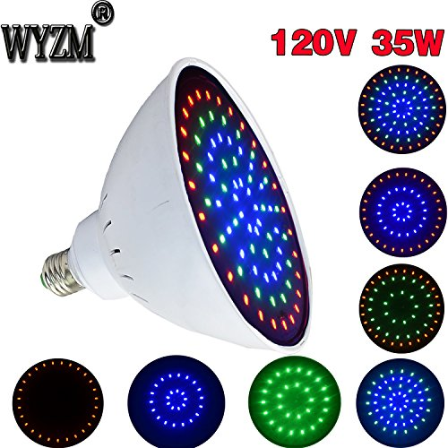 Series Pool Light (120V 35Watt Color Changing LED Pool Light Bulb, Fit in for Pentair and Hayward Pool Light Fixtures (120V 35W Colorful))