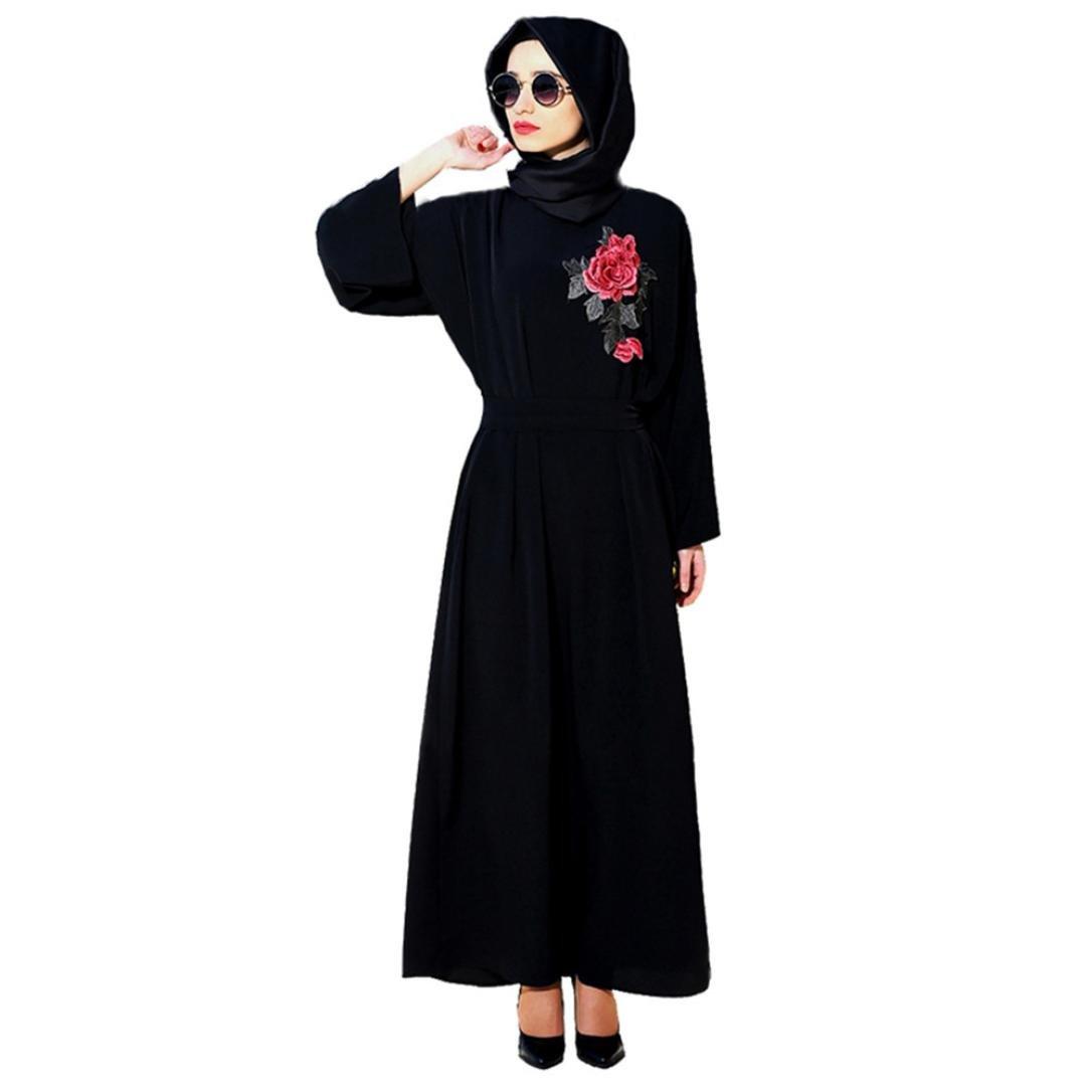 Amphia Muslimische Kleidung Frauen Muslim Abaya Dubai Kleider ...