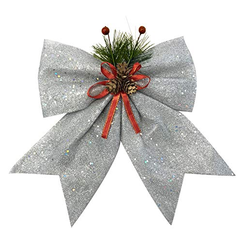 - allgala Christmas Decorative Bows for Wreath Garland Treetopper Christmas Tree (11