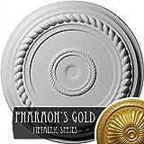 Ekena Millwork CM18ALPGS Alexandria Rope Ceiling Medallion, Pharaohs Gold