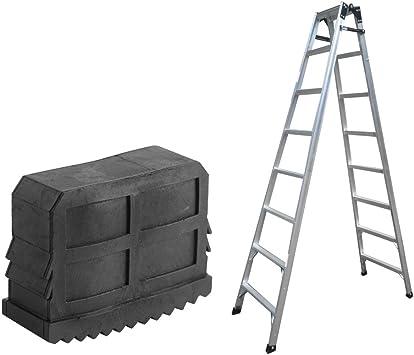 1 par resistente del resbalón no escalera de extensión Pies de ratón de goma cubierta de Seguridad Parachoques kit de reemplazo: Amazon.es: Hogar