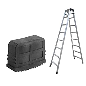 Non Slip Ladder Feet,2Pcs/Pair Rubber Non Slip Replacement Step Ladder Feet Foot Mat Cushion Sole