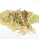 ThinkBamboo 1,200 Piece Bamboo Pick/Skewer Assortment, 7 Different Styles