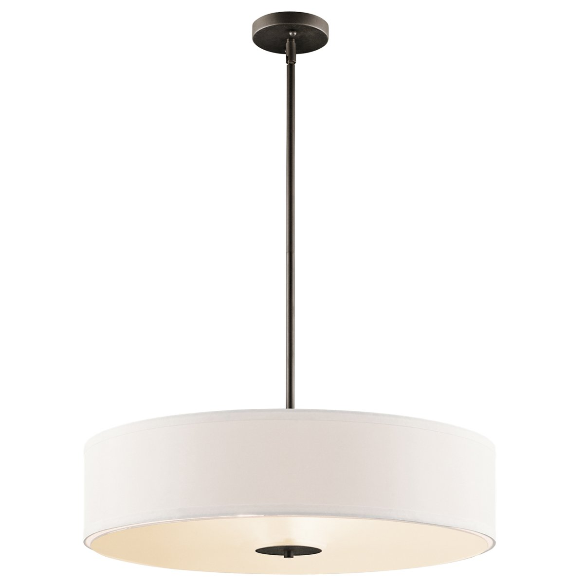 drum pendant lighting. Kichler 42121OZ Three Light Pendant/Semi Flush Mount - Drum Pendant Lighting Amazon.com T