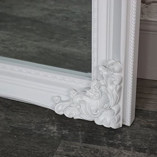 Melody Maison Extra Extra Large Longueur compl/ète Ornate Blanc Mural//Bords d/écor/és Miroir 119/cm x 220/cm