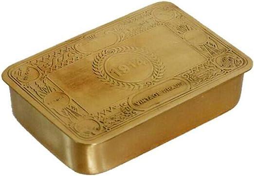 HAOCHIDIAN Caja de Almacenamiento Decorativa de latón Hecho a Mano ...