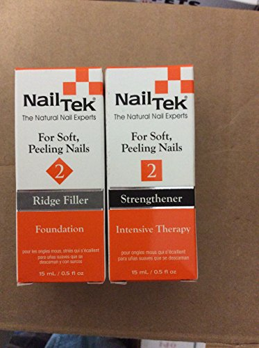 - Nail Tek Natural Foundation 2 Ridge Filler and Intensive Therapy Set Manicure