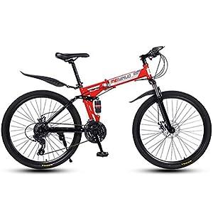 51rYwaJpw L. SS300 JXH Bici di Montagna piegante della Bicicletta per Adulti Uomini e Donne, ad Alta Acciaio al Carbonio della Sospensione…