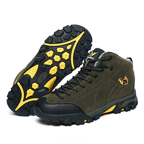 Warm Boot and Hiking Outdoor Cotton Waterproof Hiker Shoe Backpacking Leather BERTERI Men's Women's Winter fvvqgX