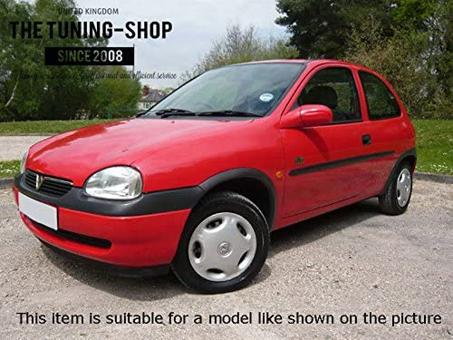 F/ür Vauxhall Opel Corsa B 1993 2000/Schaltsack schwarz Leder wei/ß N/ähten