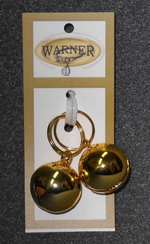 Cat Dog Bell (Warner Small Gold Colored Steel Pet Bells for Dog / Cat Collar)