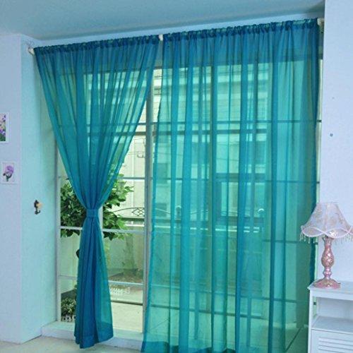 Sothread 1 PCS Romance Pure Color Tulle Door Window Curtain
