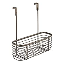InterDesign Axis Over the Cabinet Kitchen Storage Organizer Basket for Aluminum Foil, Sandwich Bags, Cleaning Supplies - Small, Bronze