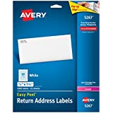 Avery Easy Peel Return Address Labels for Laser Printers, 0.5 x 1.75 Inches, White, Pack of 2000  (5267)