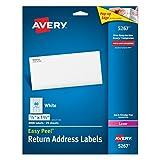 Avery Etiqueta láser,1.3 x 4.5 cm, 2000 etiquetas, blanco