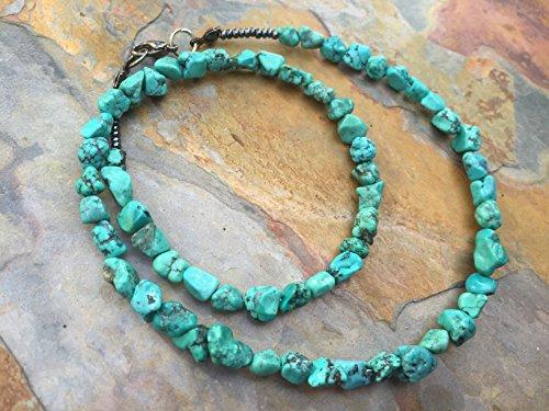 Greenish Blue Turquoise Nuggets Handmade Necklace