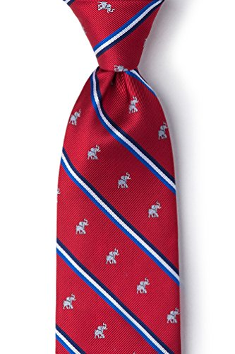 The Republican Elephant (Republican Party Elephant Stripe Red Microfiber Tie)