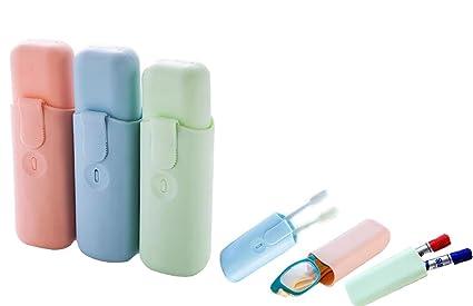 Estuche de viaje de plástico cepillo de dientes pasta de dientes Holder portátil multifunción Sundries cajas