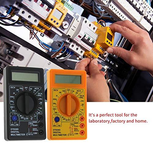 amarillo RoxTop DT-830D mini bolsillo mult/ímetro digital 1999 puntos de AC//DC voltios amperios Ohm diodo HFE del probador de continuidad del amper/ímetro del volt/ímetro /óhmetro