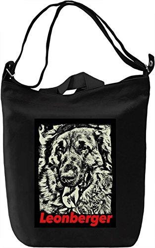 Leonberger Borsa Giornaliera Canvas Canvas Day Bag| 100% Premium Cotton Canvas| DTG Printing|