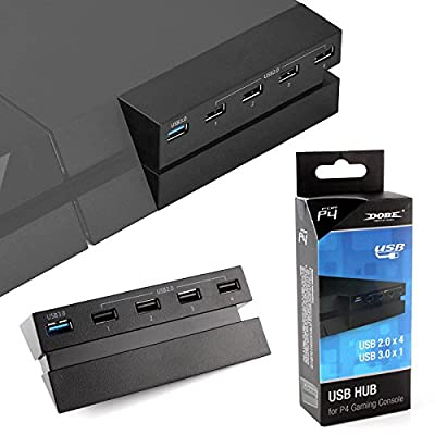 Anrain 5 USB Port Hub for PS4, High Speed Charger Controller Splitter Expansion Adapter by Anrain