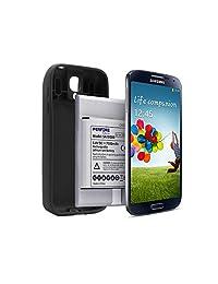 Batería extendida Galaxy S4 perfine con NFC 7500 mAh + Full Edge TPU Case Negro, para Samsung GT i9500, GT I9505, I9506