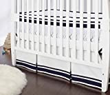 Just Born Crib Skirt, Navy