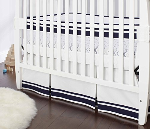 Just Born Crib Skirt Navy product image