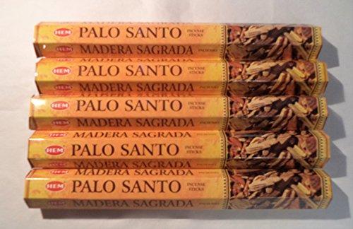 (HEM PALO Santo Incense (Holy Wood): 100 Incense Sticks (5 x 20 Stick Packs))