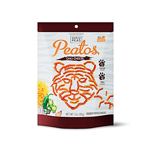 Cheap World Peas, Peatos Chili Cheese Bold Flavor Crunchy Healthy Snack Food – JUNK FOOD WITHOUT THE JUNK, Powerful Plant Protein, 130 cal, 3 Oz Bag (4 Count), Non-GMO, No Added MSG, Gluten-Free, Vegetarian