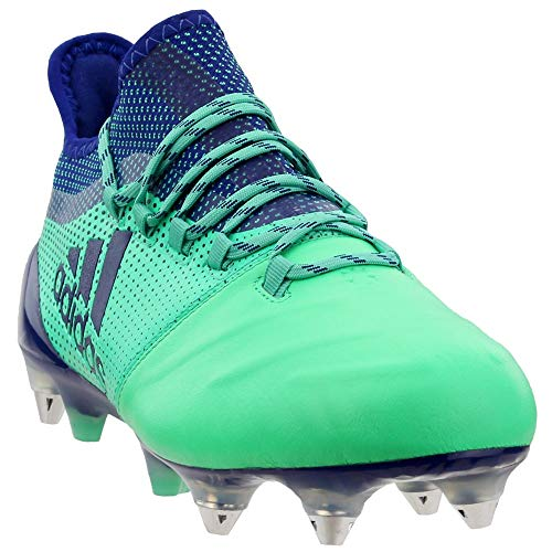 (adidas Mens X 17.1 Soft Ground Leather Soccer Athletic Cleats Green 13.5)