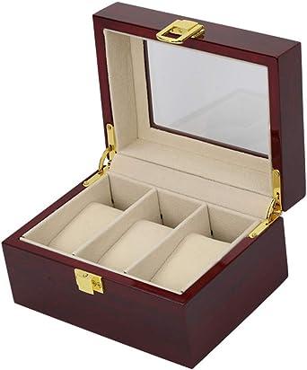 LCPG Caja de Reloj de Madera Caja de presentación de Contador de Caja de Reloj de Piano de Alto Grado 3: Amazon.es: Relojes