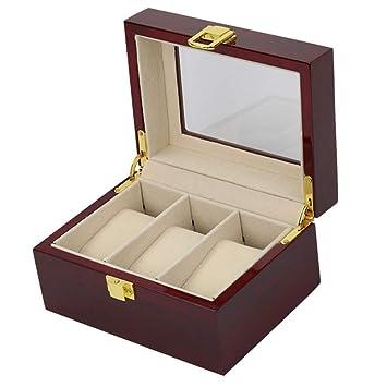 Zgsjbmh Estuche para Relojes Caja de Reloj de Madera de la Caja de Reloj 3 Caja ...