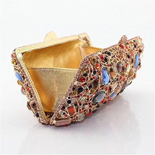 Diamant Femme Main En Sac De De Pour Soirée Mode Gold Sac à f4UAWXg