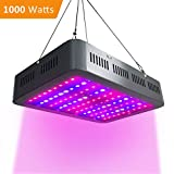 LED Grow Light 1000W Double Clips Growing Lamps Full Spectrum Planting Bulbs for Indoor Hydroponics Greenhouse Veg Flower Gardening All Phrase of Plant Growth (10W LEDs)