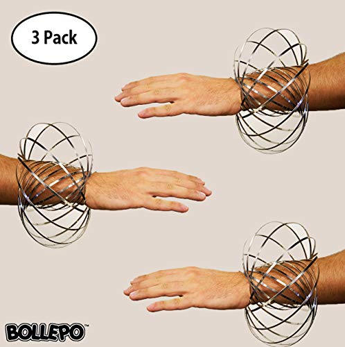 BOLLEPO Flow Ring Kinetic 3D Spring Toy Sculpture Ring Game Toy for Kids Boys and Girl (3 Pack)