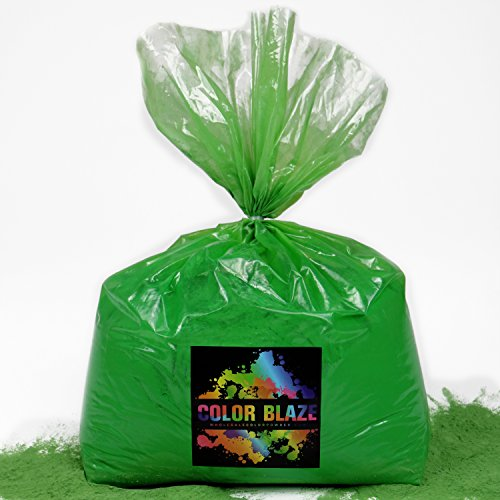 Color Powder Green 25lbs -Ideal for color run events, Holi Events, youth group color wars and more! Blue, Orange, Red, Purple, Pink, Yellow and Teal Available