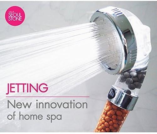 Seoul Stone - Cabeza de ducha de mano trifuncional para ducha esencial: Amazon.es: Hogar