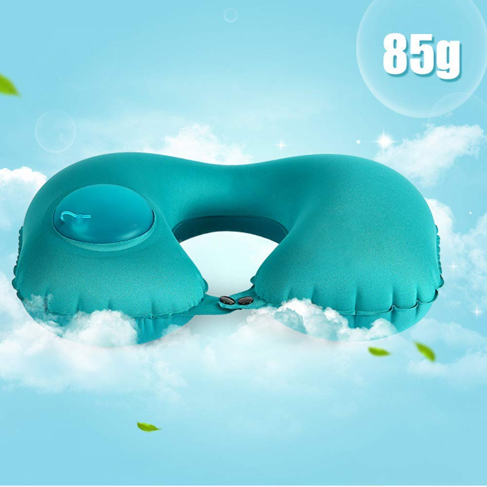 Automatic Inflatable Folding Portable Neck Car Airplane Comfortable U Shape Pillow with Bag Travel Pillow Gray Ruian Ruike Craft Gift Factory