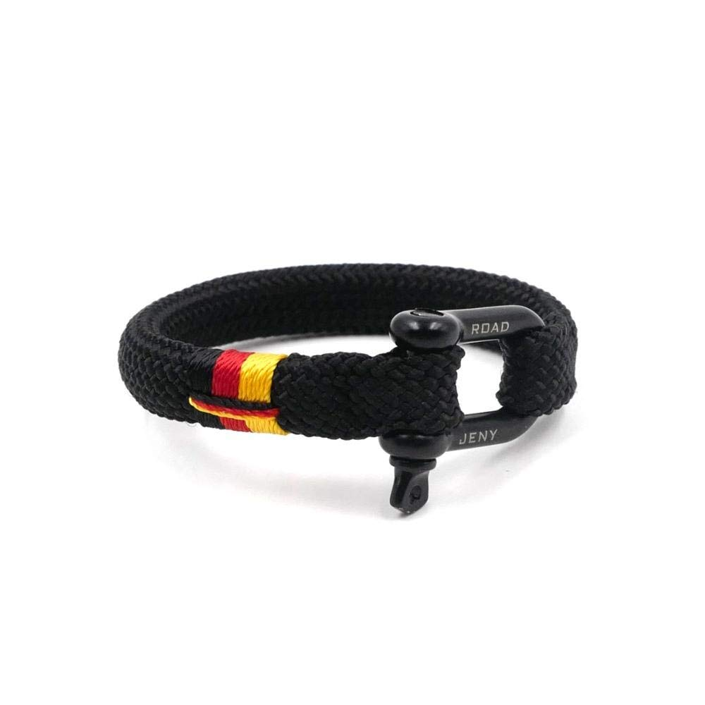 TTHER Nautical Rope Ladder - National Flag Nautical Braided Bracelet Hand-Made Yachting Rope Military Paracord Bracelet Wristband W/D-Shackle BRT-N515 by TTHER