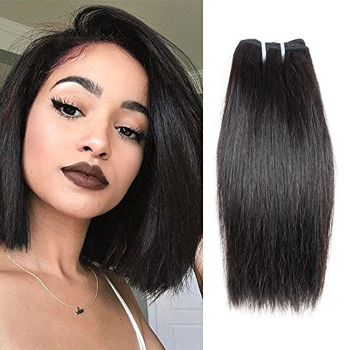 Brazilian Straight 1 Bundle 8A Unprocessed Virgin Human Hair Natural Color Straight Short Hair Extensions 35g/pcs 8