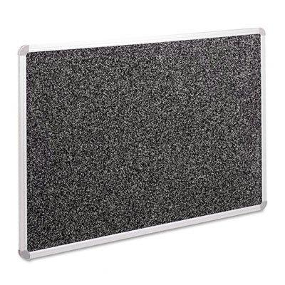 Best-Rite Rubber-Tak Tackboards, Euro Trim, 33 3/4 x 48 Inches, Black - Bulletin Trim Aluminum Board