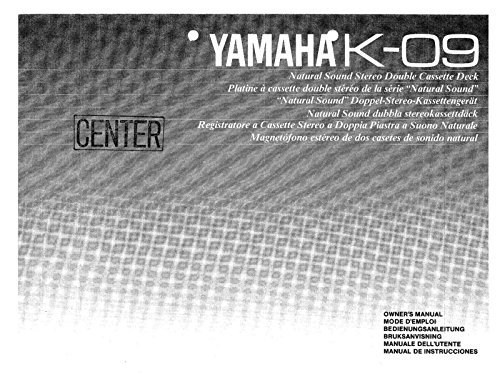 Yamaha K-09 Cassette Deck Owners Instruction Manual for sale  Delivered anywhere in USA