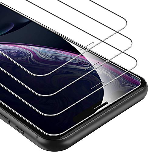 UNBREAKcable Screen Protector for iPhone XR / iPhone 11 [3-Pack], 9H Hardness Tempered Glass for iPhone XR / 11, Case Friendly, 2.5D Round Edge, Anti-Bubbles, Easy Install Tool (Not Whole Screen).