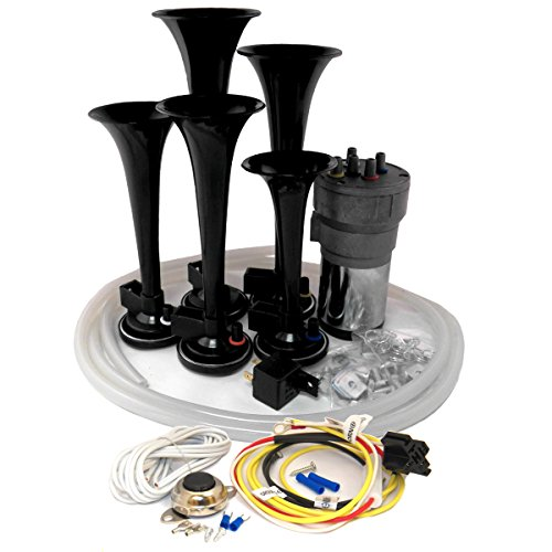 OEMLINK International LTD Dixie Air Horn Black - Dixieland Premium Full 12 Note Version with Installation Wire Kit and Button 4' Tip Carbon Fiber
