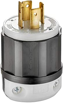 Leviton 250 V2411 20 Amp 12olt  NEMA L14-20P  3P 4W Locking Plug