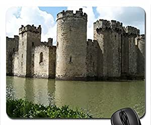 Bodiam Castle, England Mouse Pad, Mousepad (Medieval Mouse Pad, 10.2 x 8.3 x 0.12 inches)