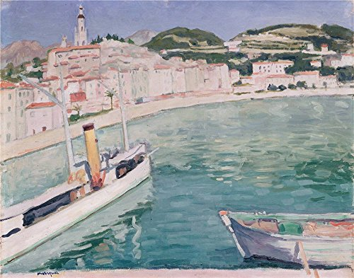 Oil Painting 'Marquet, Albert_1905_Harbour At Menton', 30 x 38 inch / 76 x 97 cm , on High Definition HD canvas prints is for Gifts And Home Office, Home Theater - Chicago Hours Store Target