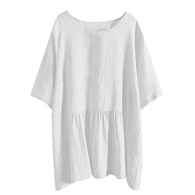 d1667ff5af190 T-Shirt Femme Eté Chemise En Soldes,LâChe Grande Taille Manche Courte  Casual Eté