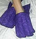 Microwave Hot and Cold Purple Non-scented Kozy Slippers By Kozy Collar